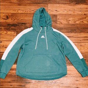 Women's ADIDAS green hooded sweatshirt